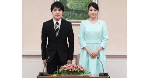 小室圭と眞子様の婚約内定会見画像