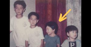 山崎育三郎の幼少期の4兄弟画像