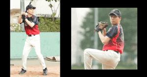 山崎育三郎が野球をしているが画像