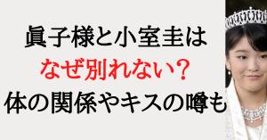 眞子様と小室圭はなぜ別れない?の記事タイトル画像