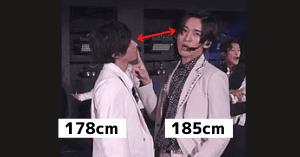 阿部亮平と目黒蓮の身長差画像