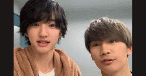 道枝駿佑と藤原丈一郎の仲良し画像