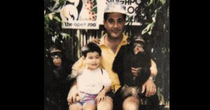 国山ハセンの幼少期と父親の画像
