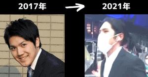 小室圭の過去とロン毛の比較画像