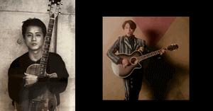 藤井フミヤがギターを弾く画像