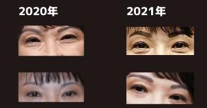 高市早苗の眉毛の比較画像