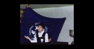牧島かれんの中学時代の英語スピーチ画像