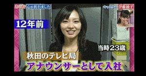 伊藤綾子の秋田アナウンサー時代の画像